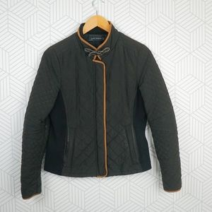 Zara Equestrian Style Quilted Jacket
